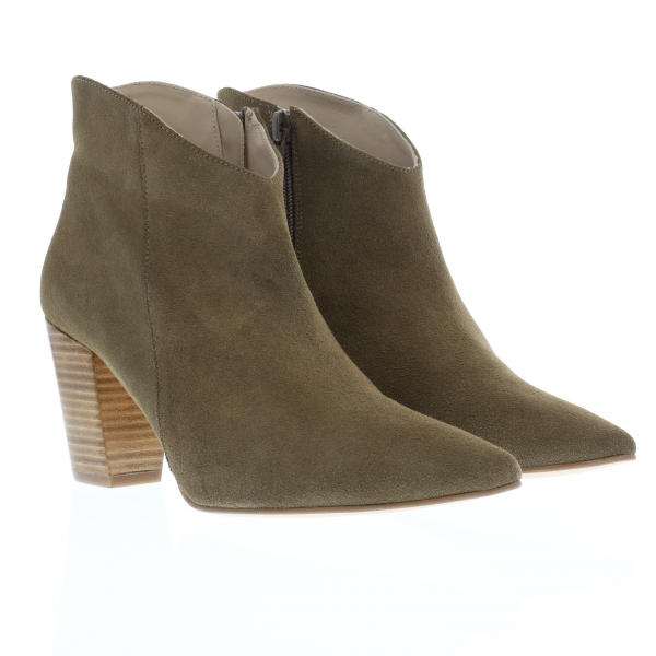 TESI - Stiefelette in Kalbvelour taupe