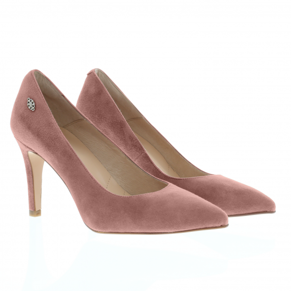 JULES - Stiletto Pumps in Samtziegenleder Rosé