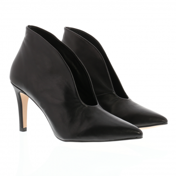 JULIE - Highcut Pumps in Kalbleder schwarz