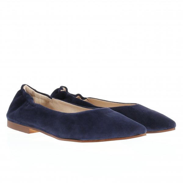 CHARLY - Ballerina in Samtziege navy