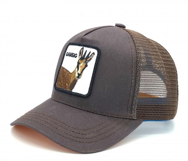 GAMSIG - Trucker Cap mit Motto-Patch und Gämse-Stickerei
